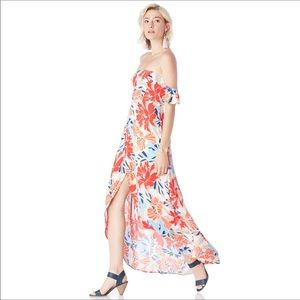 ASTR the label hibiscus multi floral dress